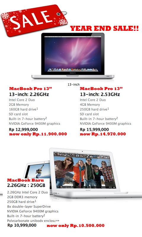 Apple Year End Sale 2009