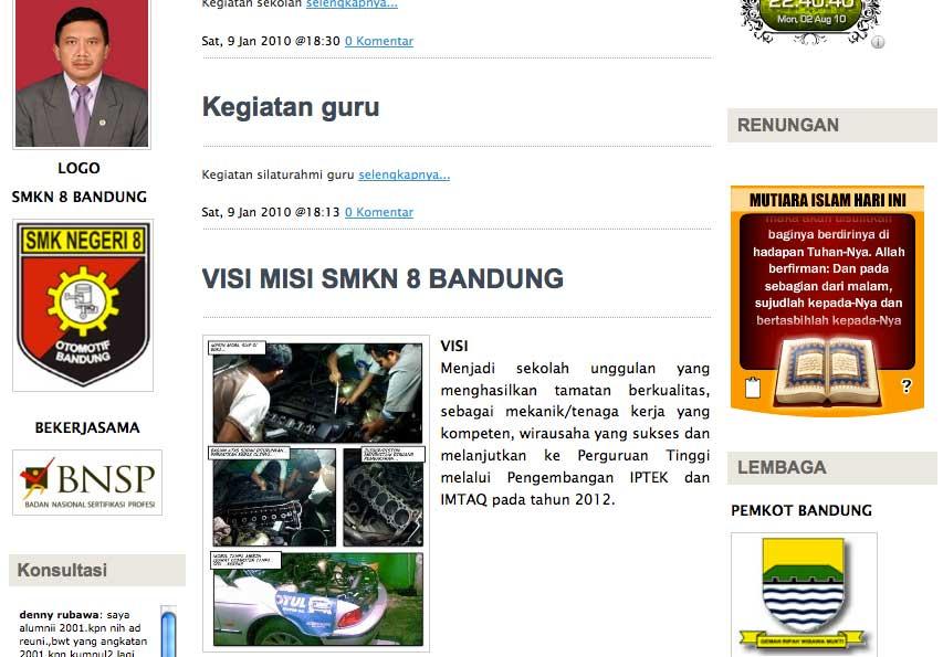 Dari Situs SMK8 Bandung