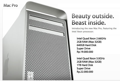 Mac Pro Intel Quad Core XEON Sale!!